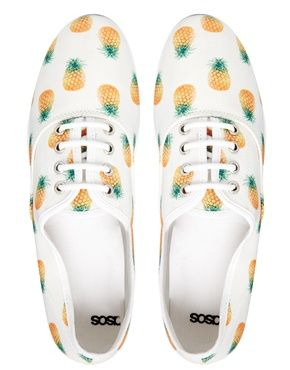 pineapple lace up shoes