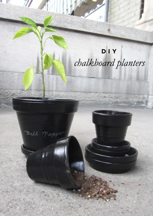 diy chalkboard pots