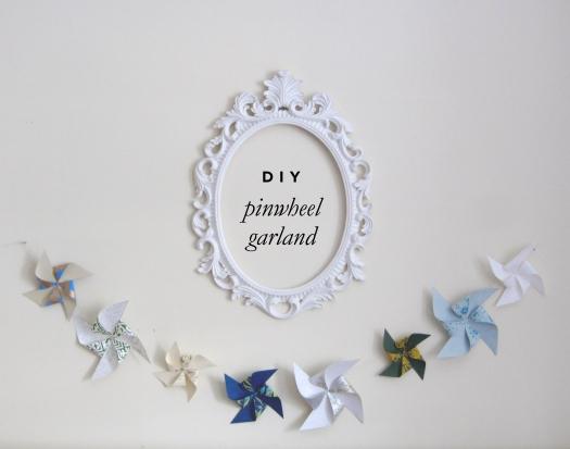 diy pinwheel garland