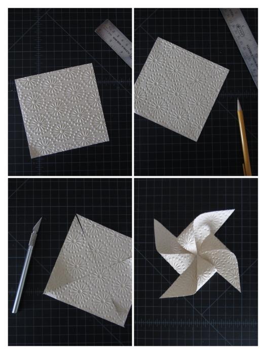 how to layout pinwheel