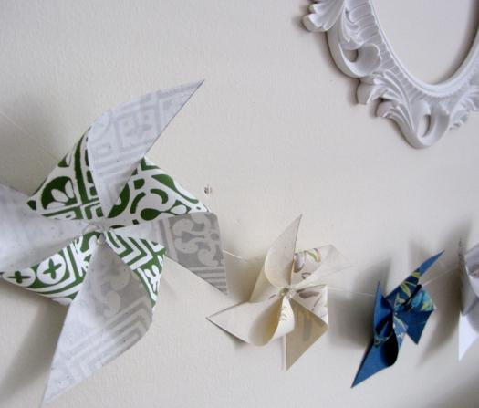 pinwheel garland