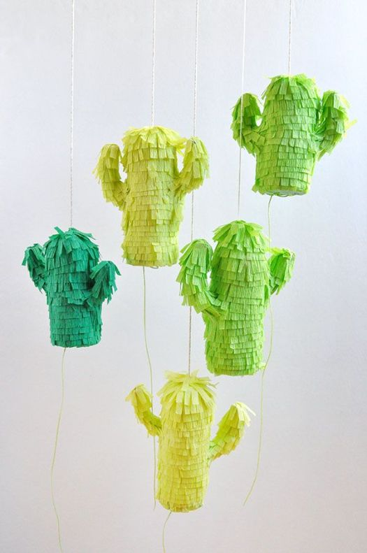 mini cactus pinatas oh happy day